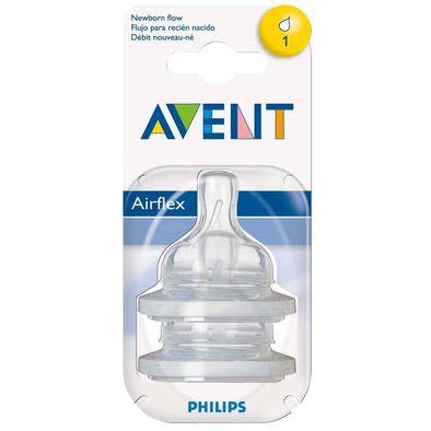 Philips Avent 2 Pack Teats Newborn 1 Hole