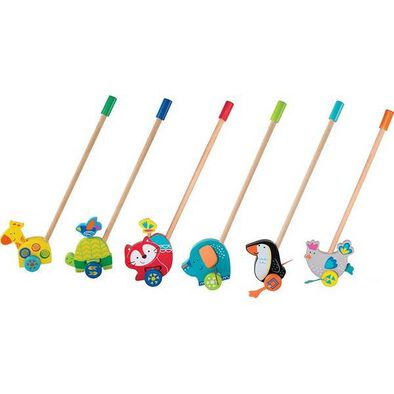 Universe Of Imagination Wooden Push Toy With Rack