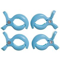 Dreambaby Stroller Clips 4 Pack (Blue)