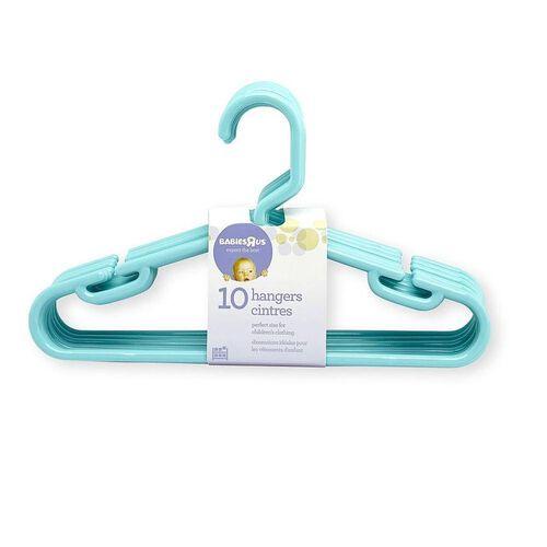 """Babies""""R""""Us 10 Pack Hangers Aqua"""