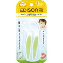 Edison Mama Fork and Spoon Baby With Case (Green)