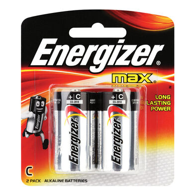 Energizer Max Batteries Size C - 2 Pack