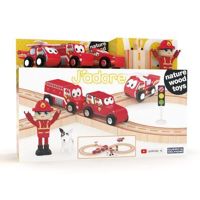 J'adore Firefighter Railway Set