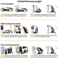 Larktale Chit Chat Compact Lightweight Travel Stroller Freshwater Blue
