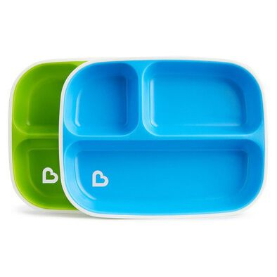Munchkin Splash Divided Plates 2 Pack - Assorted
