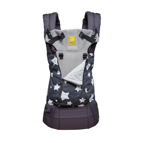 LÍLLÉ Baby Complete All Seasons Baby And Child Carrier In Charcoal With Stars