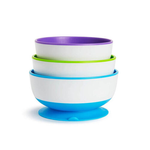 Munchkin Stay Put Suction Bowls 3-Pack New Colour