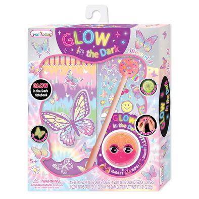 Hot Focus Glow in the Dark Slime Art Tie Dye Butterfly