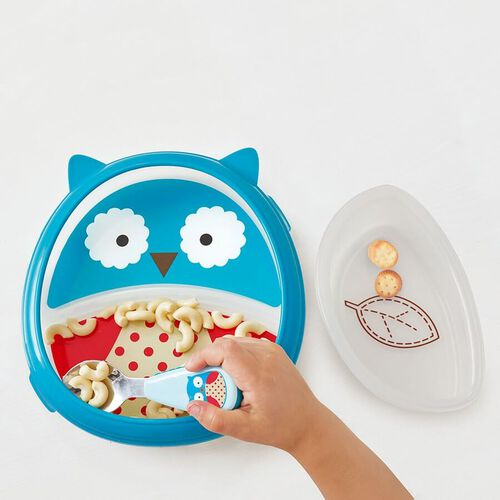 Skip Hop Zoo Eat Neat Plate Set Owl