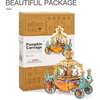 Robotime DIY Music Box Pumpkin Carriage