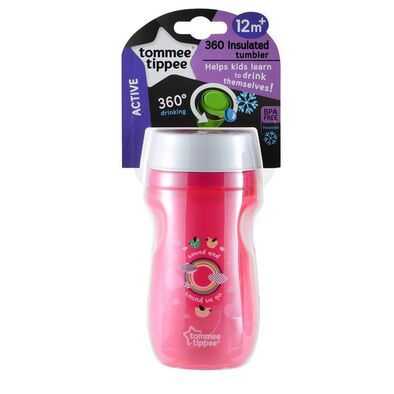 Tommee Tippee Insulated 360 Cup 260Ml (9M+)-Pink