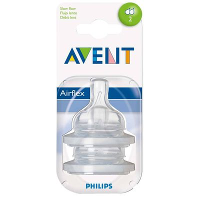Philips Avent 2 Pack Teats Slow Flow 2 Hole