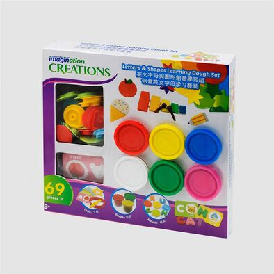 Universe of Imagination Letter and Shapes Learning Dough Set