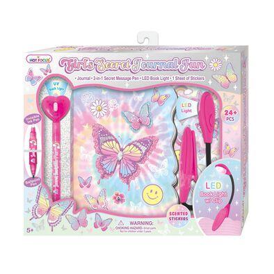 Hot Focus Girls Secret Journal Fun Tie Dye Butterfly
