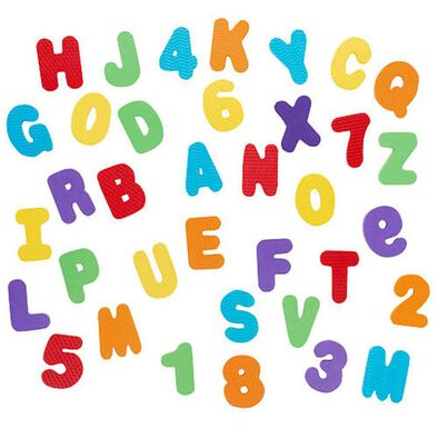 Babies R Us 36 Piece Foam Numbers and Letters