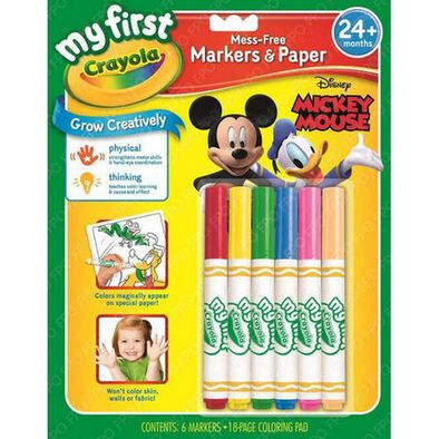 Crayola My First Crayon Mickey & Friends Markers & Paper Set
