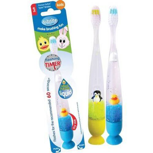Liquid Flashing Toothbrush:3D Animal