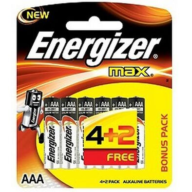 Energizer Max Aaa 6 Value Pack