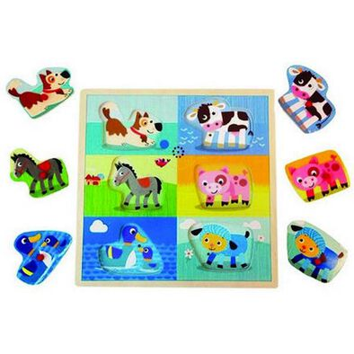 Universe Of Imagination 6Pc Sound Puzzle Farm & Jun