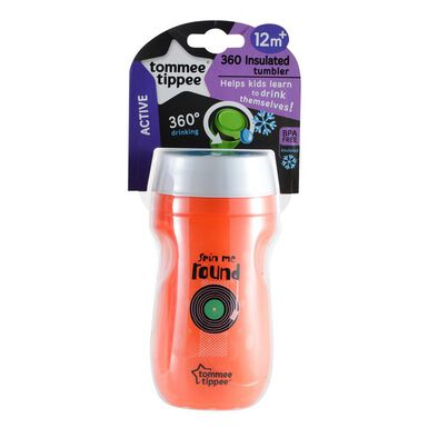 Tommee Tippee Insulated 360 Cup 260Ml (9M+)-Orange