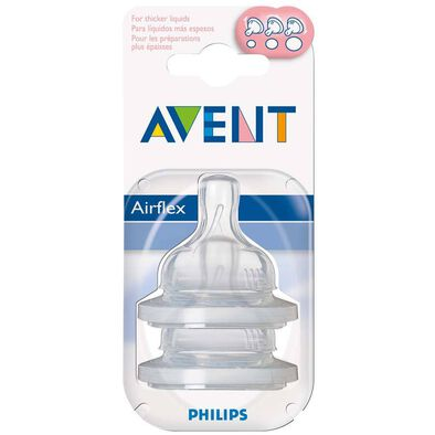 Philips Avent 2 Pack Teats Variable Flow Slot