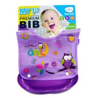 Simple Dimple Premium Pvc Bib W/ Catcher - Assorted