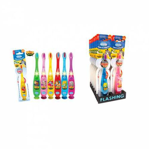 BRUSH RIGHT Wave Flashing Toothbrush:Wild Bunch