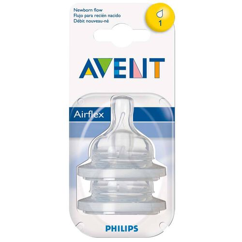 Philips Avent 2 Pack Teats Newborn 1 Hole