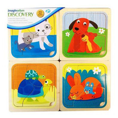 Universe Of Imagination -4Packs Baby Animals 3Pcs Jigsaw Puzzle