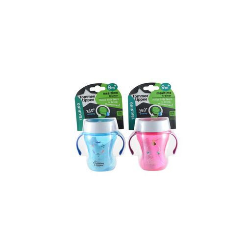 Tommee Tippee Meal Time Trainer Cup 230Ml (9M+)-Pink