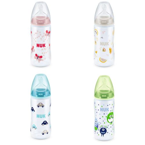 Nuk Premium Choice 200Ml Pp Bottle With Silicoen Teat Size 2, Medium - Assorted